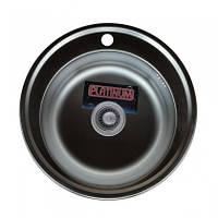 Врезная кухонная мойка Platinum 510 (cм) в покрытии satin (матовая), с толщиной 0,6 (мм), фото 1