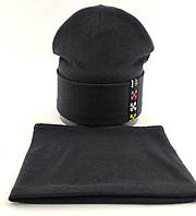 Оптом шапка детская с 52 по 55 размер хомутом микро ангора шапки головные уборы детские опт, фото 1