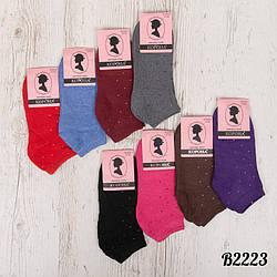 Шкарпетки жіночі махрові в горошок Корона B2223