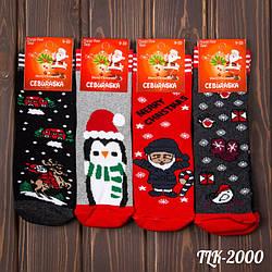 Шкарпетки дитячі махрові Merry Christmas CEBURASKA (Туреччина) TLK-2000