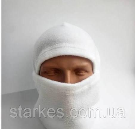 Балаклавы флисовые Белые на зиму, № 6.