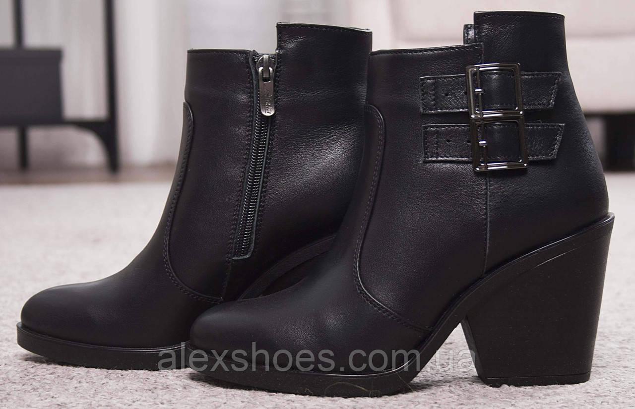 Ботинки женские на удобном каблуке из натуральной кожи от производителя модель НИ8010-2
