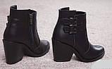 Ботинки женские на удобном каблуке из натуральной кожи от производителя модель НИ8010-2, фото 2