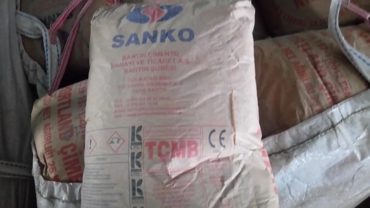 Цемент ПЦ І-550-Д0, (CEM І 42.5R) SANKO, 25кг, Турция