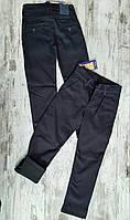 Утепленные детские школьные джинсы на флисе для мальчиков 11-15 лет Турция оптом