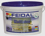 Матовая латексная краска Mattlatex Feidal 10л