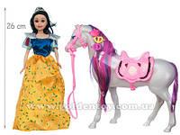 "Кукла ""Белоснежка"" с лошадью, свет, звук., в кор.39х7х32см"