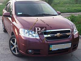 "Реснички на фары Chevrolet Aveo T250 (ZAZ Vida) ""Orticar"" (стеклопластик)"