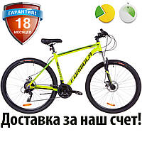 """Алюминиевый горный велосипед найнер 29"""" Formula THOR 2.0 DD 2019 (салатно-черный с бирюзовым)"""