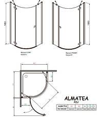 Душевая кабина полукруглая Radaway Almatea PDJ, фото 3