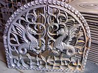 """✅ Портал решетка чугунный фасадный с дверью """"Дракон"""""""
