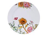 Набор из 6 фарфоровых тарелок Подсолнухи 25 см 358-950