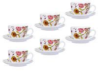 Чайный набор фарфоровый Подсолнухи 358-955