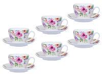 Чайный набор фарфоровый Цветочный сад 358-961