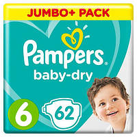 Подгузники Pampers Active Baby 6  (13-18 кг) Giant Pack, 62 шт., фото 1