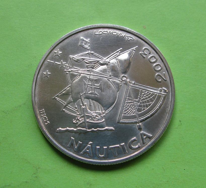 Португалія 10 євро 2003 р. Традиції навігації , UNC Срібло