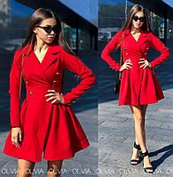 Стильное платье, красное, 42, 44, 46 р-р.