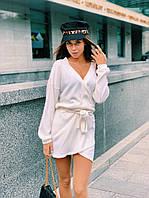 Женское короткое платье на запах, фото 1