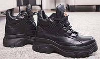 Ботинки молодежные на толстой подошве из натуральной  кожи от производителя модель НИА-2-3, фото 1