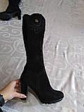 Шикарні велюрові чобітки, фото 8