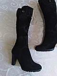 Шикарні велюрові чобітки, фото 7