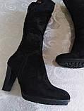 Шикарні велюрові чобітки, фото 6