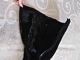 Шикарні велюрові чобітки, фото 9