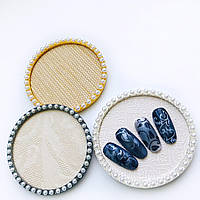 Рамочка с круглая для фотографирования ногтей в instagram