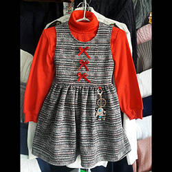 Теплий сарафан для маленької дівчинки. 98-116.