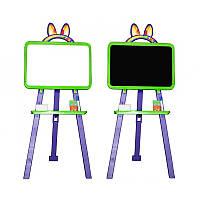 Доска для рисования магнитная 013777/6 салатово-фиолетовая