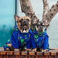 Теплая Одежда для собак HitTon, непромокаемый комбинезон для французских бульдогов и мопсов (Осень)