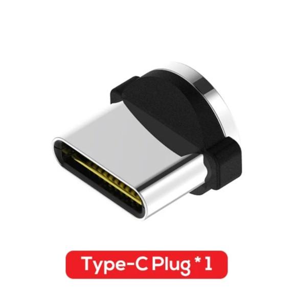 Магнітний круглий конектор Type C USB TOPK для кутового кабеля