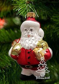 Стеклянная елочная игрушка Санта Клаус Ф-4 ЛВ 1966