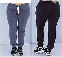 Р-ры 42-56 Женские утепленные спортивные штаны Батал 20271, фото 1