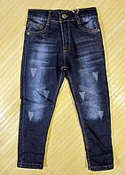 Подростковые утепленные джинсы р.9-10