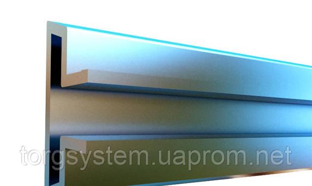 Алюминиевая вставка в экономпанель 695мм