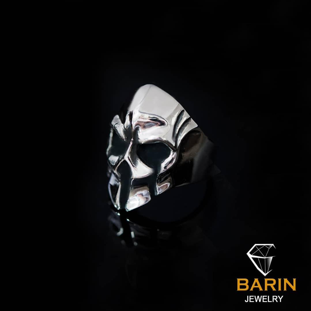 Авторское мужское кольцо из серебра Череп КЦ-62 Б
