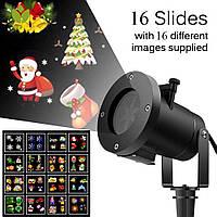 Новогодний уличный проектор Star Shower Slide Show 16 слайдов, фото 1