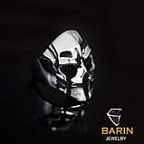 Авторское мужское кольцо из серебра Череп КЦ-62 Б, фото 3
