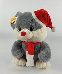 Мягкая игрушка Мышонок в колпаке со звуковыми эфектами высота 18см