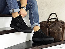 Мужские зимние замшевые ботинки (полуботинки) VanKristi Black, фото 2
