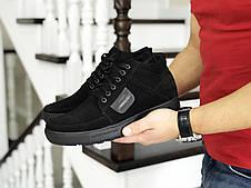 Мужские зимние замшевые ботинки (полуботинки) VanKristi Black, фото 3
