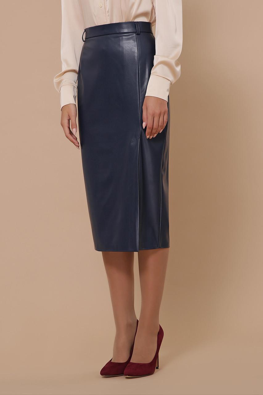 Женская юбка из эко-кожи  Размеры S M L XL