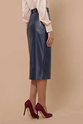 Женская юбка из эко-кожи  Размеры S M L XL, фото 2