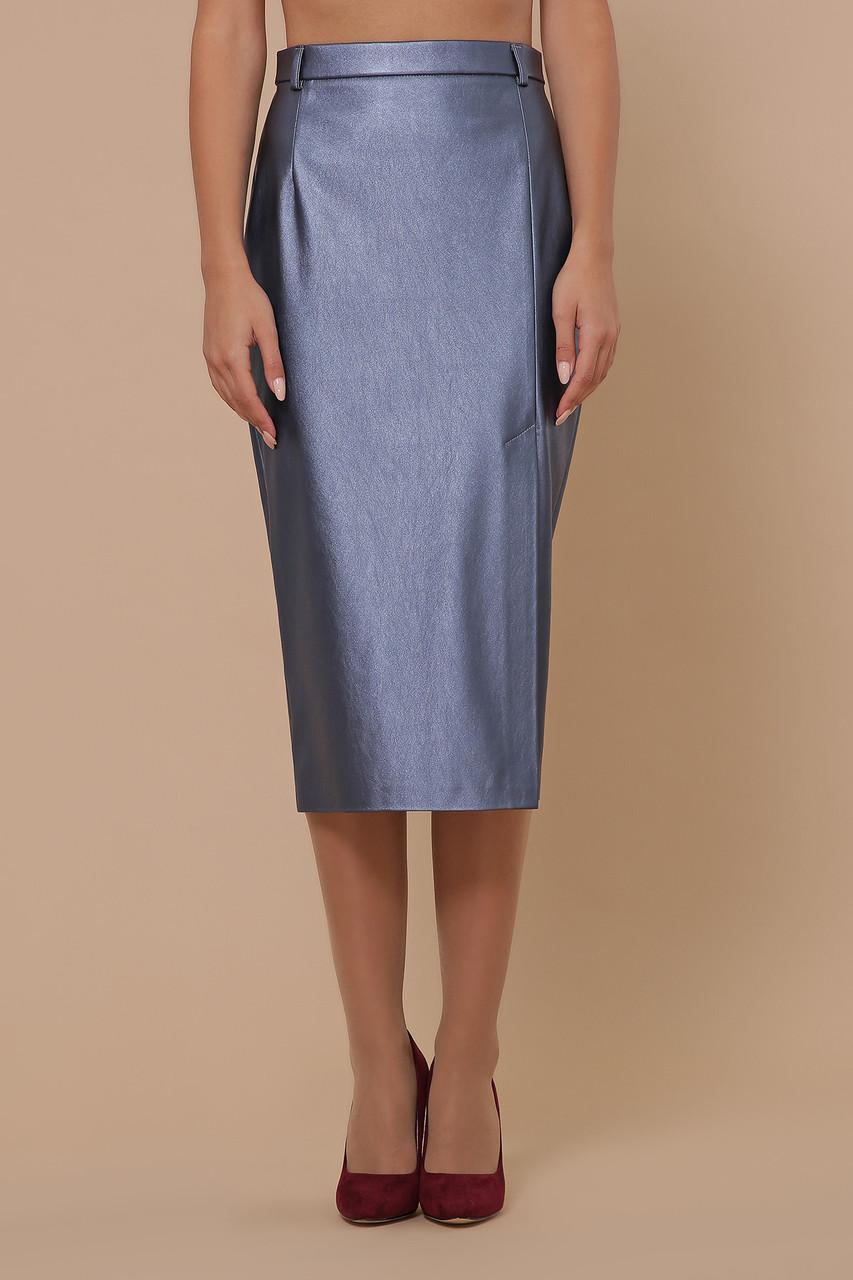 Женская юбка из эко-кожи МОД. №40 Размеры S M L XL