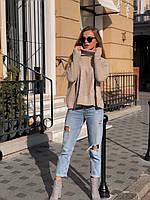 Женский трикотажный свитер с горлом, фото 1