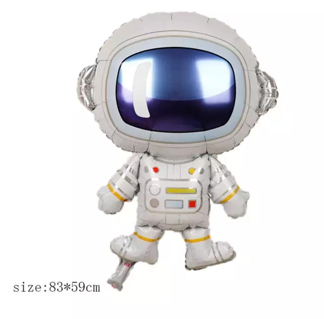 Повітряний фольгований куля Космонавт 83х59 см (Китай)
