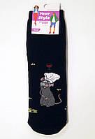 Махрові шкарпетки з пацюком Рататуй темно-синього кольору 35-37р