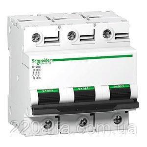Автоматический выключатель Schneider Electric A9N18367 C120N 3П 100A C