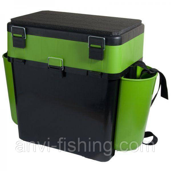 """Ящик для зимней рыбалки Тонар Барнаульский """"FishBox"""" 19л - Зеленый"""